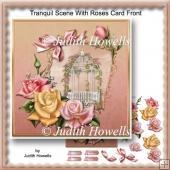 Tranquil Scene With Roses Card Front