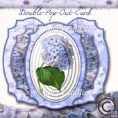 Double Pop Out Card Hydrangea