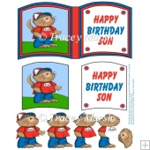Happy Birthday Son Cat Open Book Page