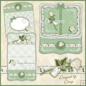 Ivory Rose Book Easel Card
