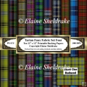 Tartan Paper - Set Four - Ten 12 x 12 Sheets Printable Papers