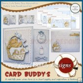 Beary Cute Baby Boy Assymetric Fold & Side Panel Card Kit