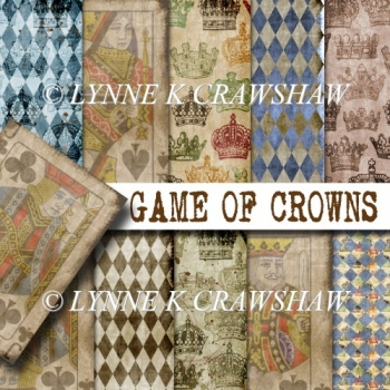 GAME OF CROWNS - 10 digital backgrounds/papers designer resource