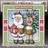 Jolly Christmas Santa & Reindeer Mini Kit