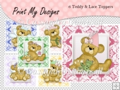 6 Teddy & Lace Toppers