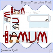 Christmas Penguin Mum Word Book
