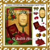 Classic Christmas Decoupage Card Front