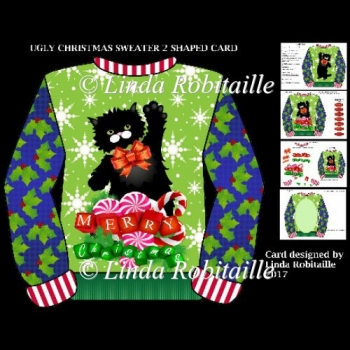 Ugly Christmas Sweater 2 Shaped Card