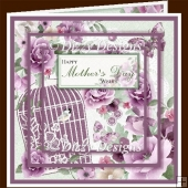 Birdcage & Blooms Layered Card