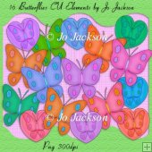 Butterfly Clipart - CU Elements