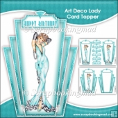 Elegant Art Deco Lady Topper & Insert Panel