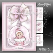 Baby Girl Stocking Bauble Mini Kit