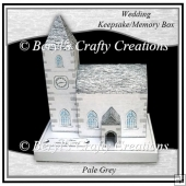 Church Keepsake/Memory Box - Wedding - Pale Grey