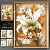 White Lily Bouquet Card Mini Kit