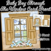 Baby Boy Through The Window Card Front