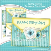 Spring Flowers Envelope Card Front