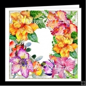 Watercolor Tropical Flowers Mini Kit