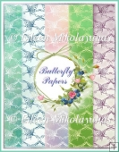Butterfly Background Papers Set