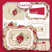 Red roses picture frame stand alone card