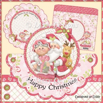 Mr & Mrs Claus Over the Top Shaped Card