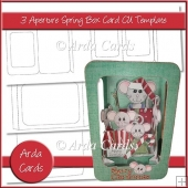 3 Aperture Spring Box Card CU Template