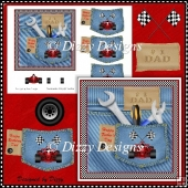 Dad's Jeans Card Front & Decoupage