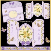 Buttercups and Butterflies suspension style card kit