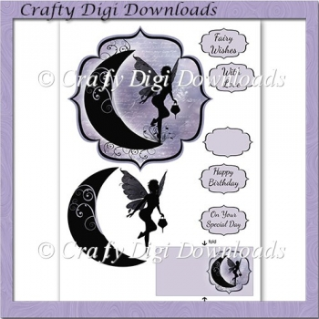 Silhouette Moon Fairy topper