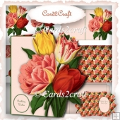 Tulip shaped card