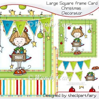 Square Frame Card - Christmas Decorator(Retiring in August)