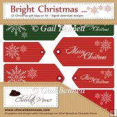 12 'Bright' Christmas Tags