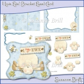 I Love Ewe! Bracket Easel Card