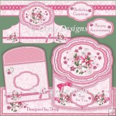 Floral Scalloped Gatefold Card Kit