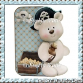 Pirate Bear Shaped Fold Card Kit