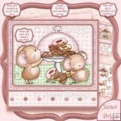 Doughnuts & Sprinkles 7.5 Decoupage Kit All Occasions