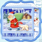 SANTAS LITTLE HELPER 7.8 Christmas Decoupage & Insert Kit