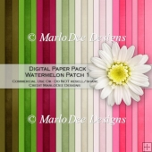 Watermelon Patch Card Stock Digital Papers {A4 size}
