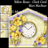Yellow Roses - Clock Card