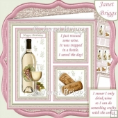 WHITE WINE SAVE THE DAY or CRAFTY CORKS 7.5 Quick Layer Card Kit