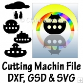Noah's Ark and other Boats Cutting Machine File GSD SVG DXF