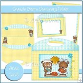 Seaside Bears Stationery Folder