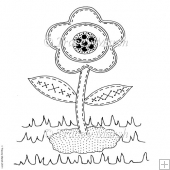 Garden Flower Digital Stamp - Commercial and Personal Use