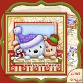 Christmas Trio 7.5 Decoupage Kit