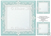 "Sea Green (2) Lace Frames - One 8"" x 8"" and Two 3"" x 3"""