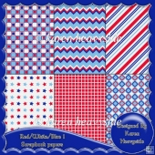 Red_White_Blue Scrapbook Paper