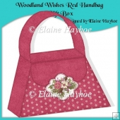 Woodland Wishes Red Handbag Gift Box