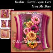Dahlias - Curved Layers Card