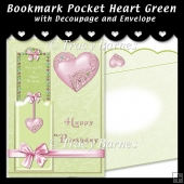 Bookmark Pocket Heart Card Kit (Green)