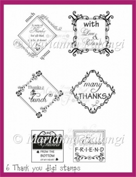 Thank You sentiments (Digital Stamps)