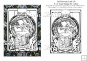 Art Nouveau Lady (3) 7 x 5 Digi Card Topper For You To Colour